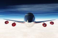 летание самолета 04 3d представляет Стоковые Изображения