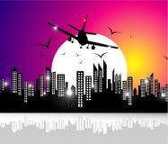 летание самолета Стоковые Фото
