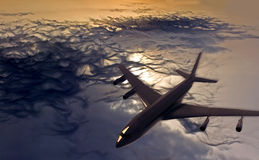 летание самолета стоковые изображения