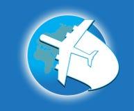 Летание самолета воздуха иллюстрация вектора