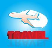 Летание самолета воздуха иллюстрация штока