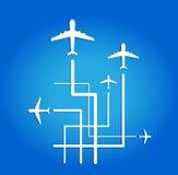 Летание самолета воздуха Стоковые Фото