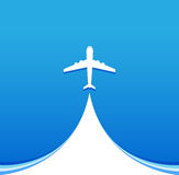 Летание самолета воздуха Стоковое фото RF