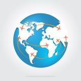 Летание самолета воздуха Стоковая Фотография