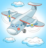 Летание самолета в небе Стоковые Изображения RF