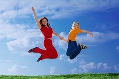 летание семьи Стоковая Фотография