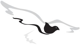 летание сокола Иллюстрация штока