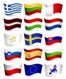 Летание страны Европейского союза сигнализирует часть 2 Стоковое Изображение
