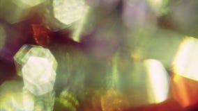 Летание утечек Psychodelic голографическое светлое в темноте Естественный  сток-видео