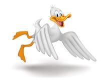 летание утки Стоковая Фотография