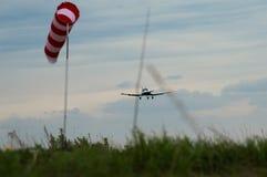 Летание частного самолета рекреационное Стоковое Изображение