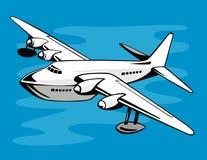 летание шлюпки иллюстрация штока