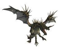 летание 2 драконов spiky Стоковое Фото