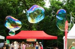 Летание Bublles Стоковое Изображение