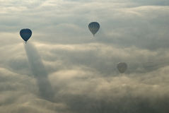 летание cappadocia ballons воздуха горячее Стоковое Фото