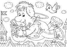 летание carlson бесплатная иллюстрация