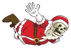 Летание santa головы косточки Стоковые Фотографии RF