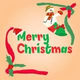 Летание santa рождества Стоковые Изображения