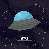 Летание UFO в космосе бесплатная иллюстрация