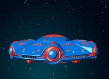 Летание UFO шаржа в космосе бесплатная иллюстрация