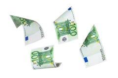 Летать банкнот евро Стоковые Изображения RF