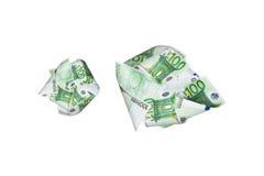 Летать банкнот евро Стоковые Фотографии RF