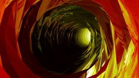 Летать в бесконечный красочный тоннель иллюстрация вектора