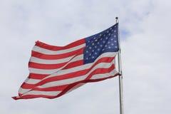 Летать государственного флага США гордый Стоковое Фото