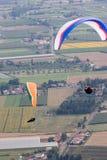 летать над городком Стоковые Изображения RF