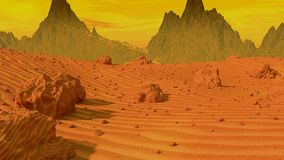 Летать над ландшафтом Марса акции видеоматериалы