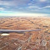 Летать над Альбертой Стоковая Фотография