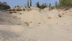 Летать над видом с воздуха Sandpit видеоматериал