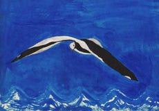 Летать над волнами иллюстрация штока