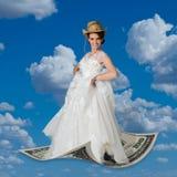 Летать на деньги Стоковые Фото