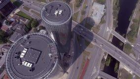 Летать над небоскребами Ригой видеоматериал