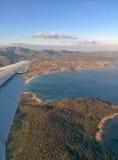 Летать над островом Стоковое Изображение RF