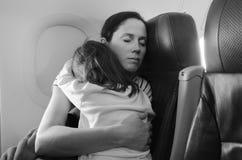 Летать с детьми стоковое фото