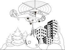 Летать Дед Мороз Стоковые Фотографии RF