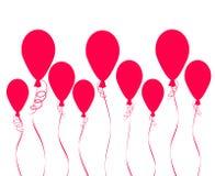 Летающ горячая предпосылка воздушных шаров для вашего дизайна, запасите вектор Стоковое Изображение