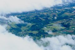 Летающ к Сан-Хосе, Коста-Рика стоковое изображение