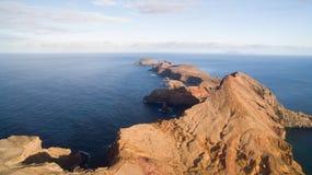 Летающ над полуостровом Lourenco Sao, Мадейра, вид с воздуха Стоковые Фото