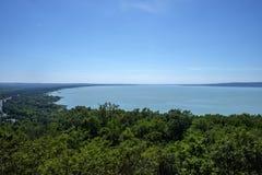 Летнее время и воссоздание на озере Balaton Стоковое Фото