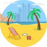 Летнее время - круглое знамя Стоковые Фото