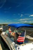 Летнее время на озере Стоковая Фотография