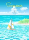 Летнее время плаката Стоковое Фото