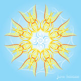 Летнее солнцестояние иллюстрация штока