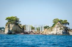 Летние каникулы Закинфа изображают воодушевлять на праздник на острове стоковая фотография rf