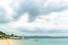 Летние каникулы пляжа идилличного тропического острова карибские стоковое фото