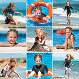 Летние каникулы маленькой девочки Стоковая Фотография RF