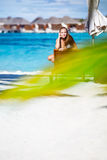 Летние каникулы на пляже Стоковая Фотография
